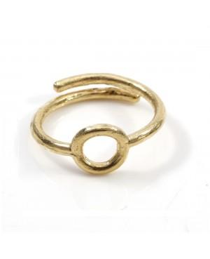Unic anillo plata chapado oro